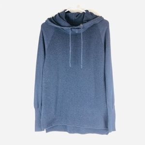 ATHLETA Bhakta Thermal Cowl Neck Hoodie Sweater